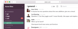 Tool for group conversations - Slack